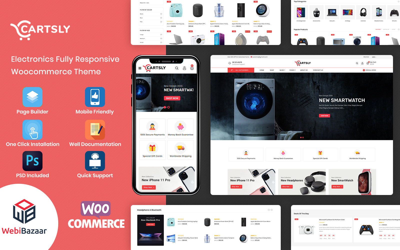 Cartsly - Electronics Multipurpose E-commerce WooCommerce Theme