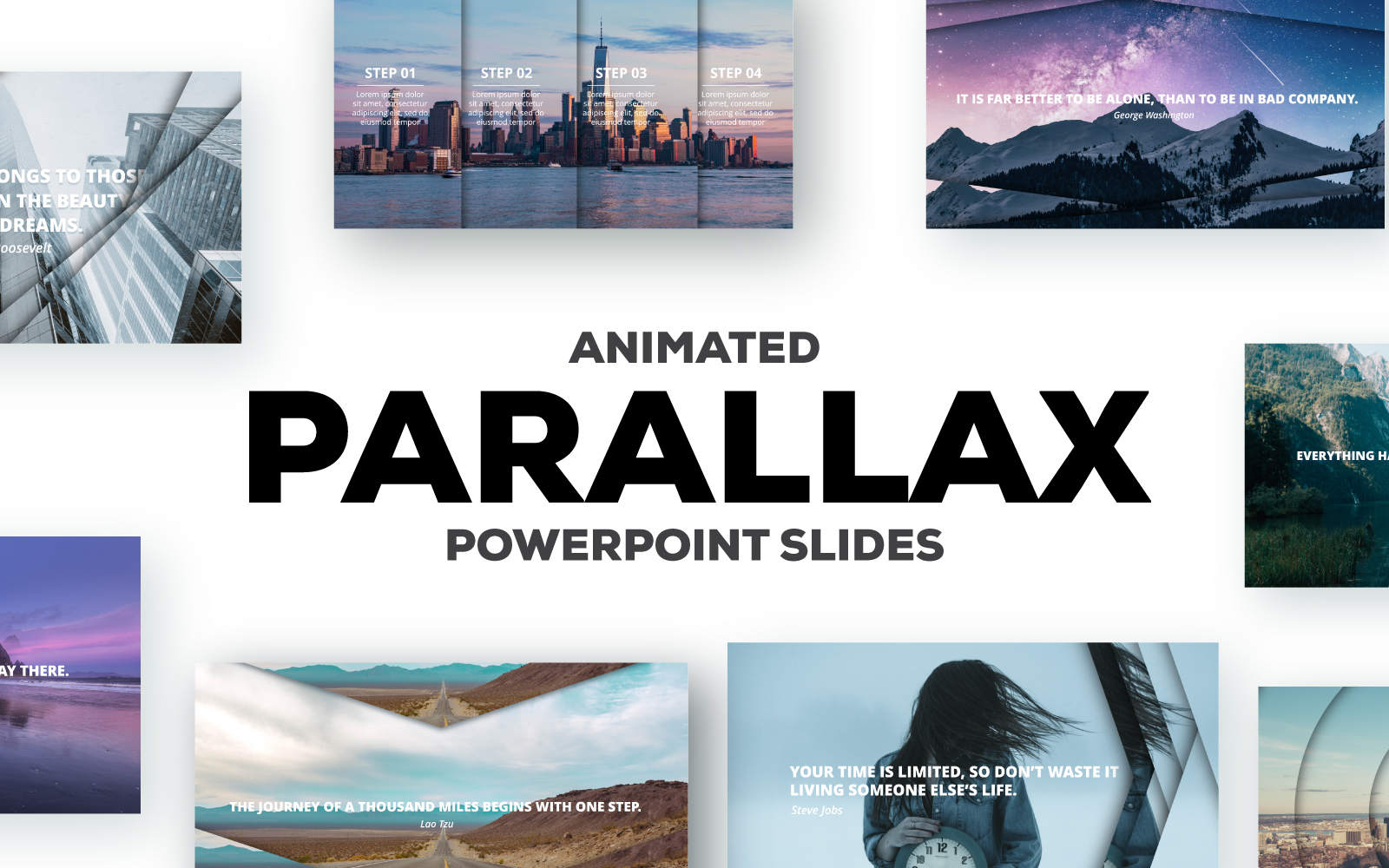 Parallax Effect Slides PowerPoint Template