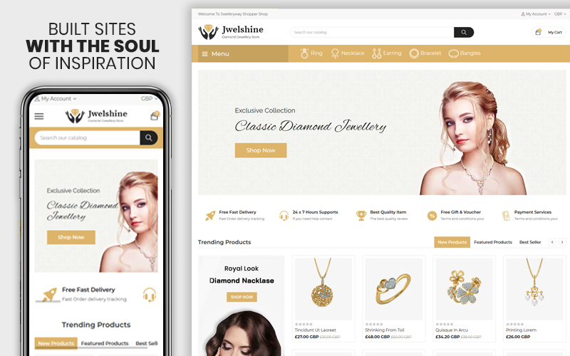 Jwelshine - The Jewellery & Fashion Premium Shopify Theme