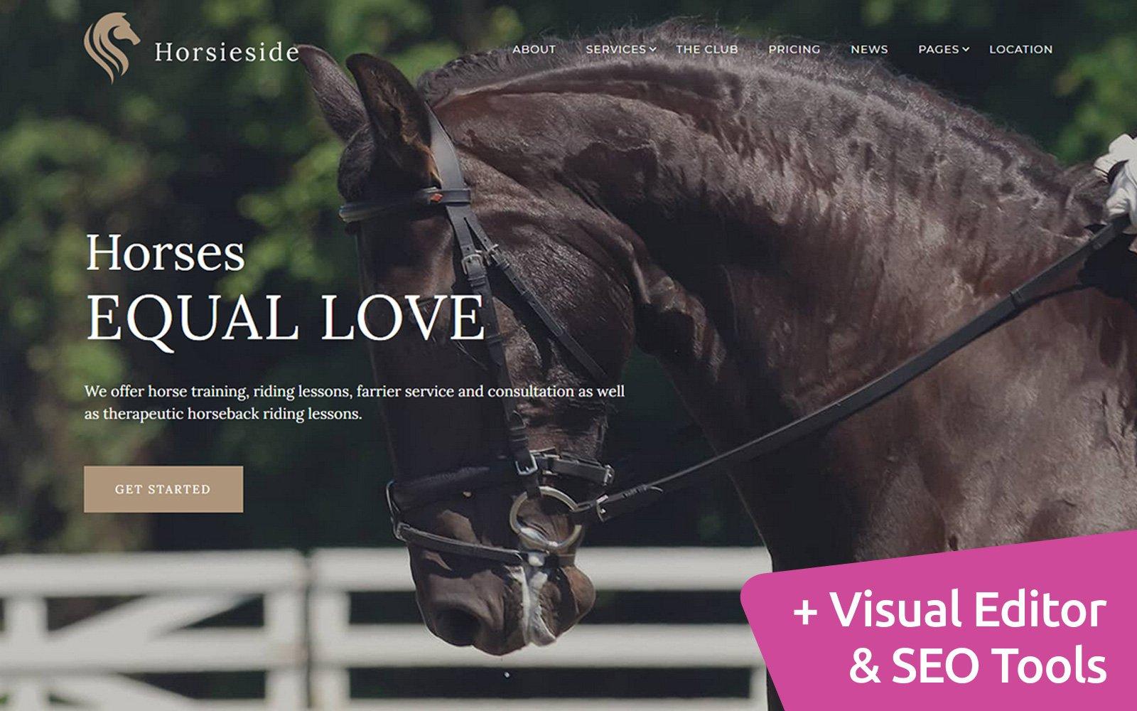 Horsieside - Equestrian Center Moto CMS 3 Template