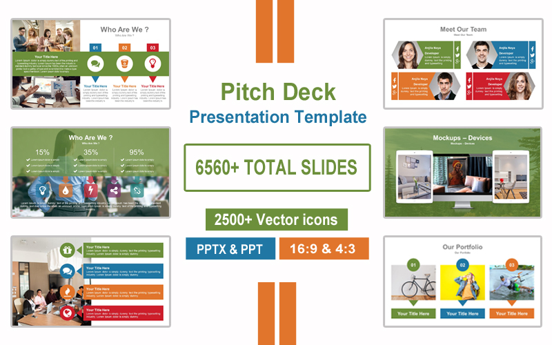 Investment Pitch Deck Presentation PowerPoint Template
