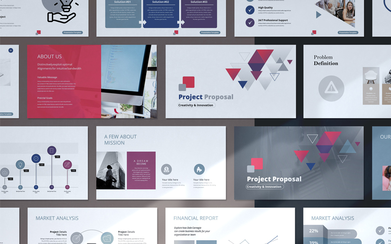 Minimal Project Proposal Presentation PowerPoint Template
