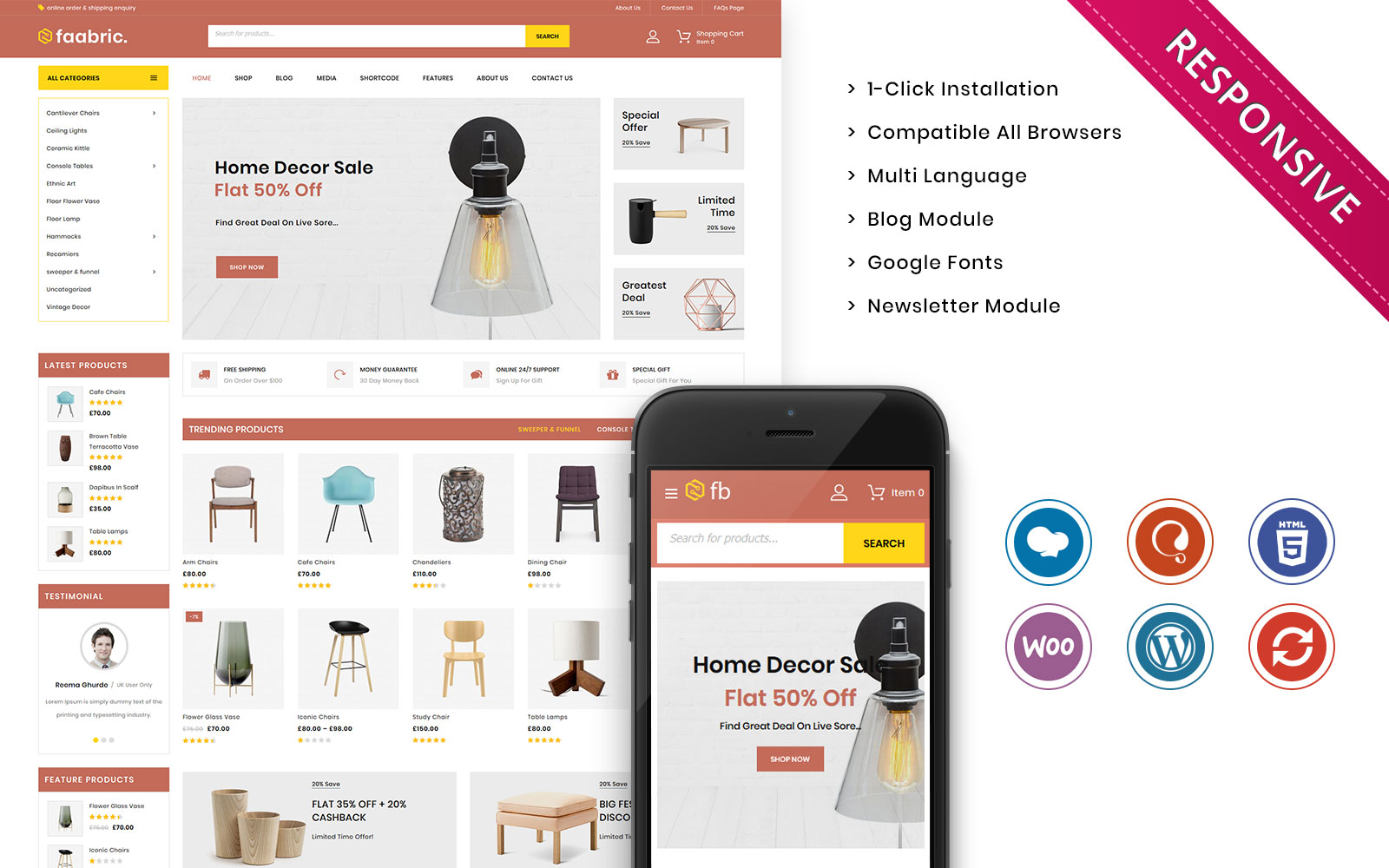 Faabric - The Furniture Store Responsive WooCommerce Theme