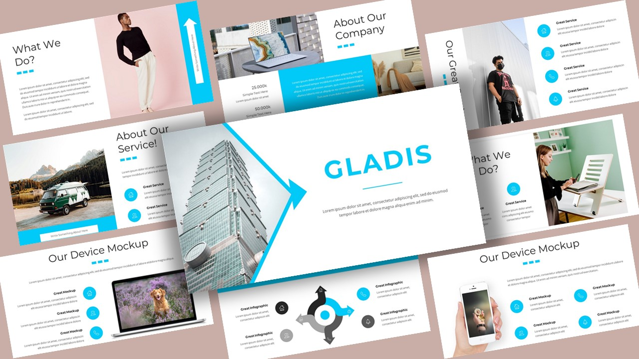 Gladis Creative Business PowerPoint Template