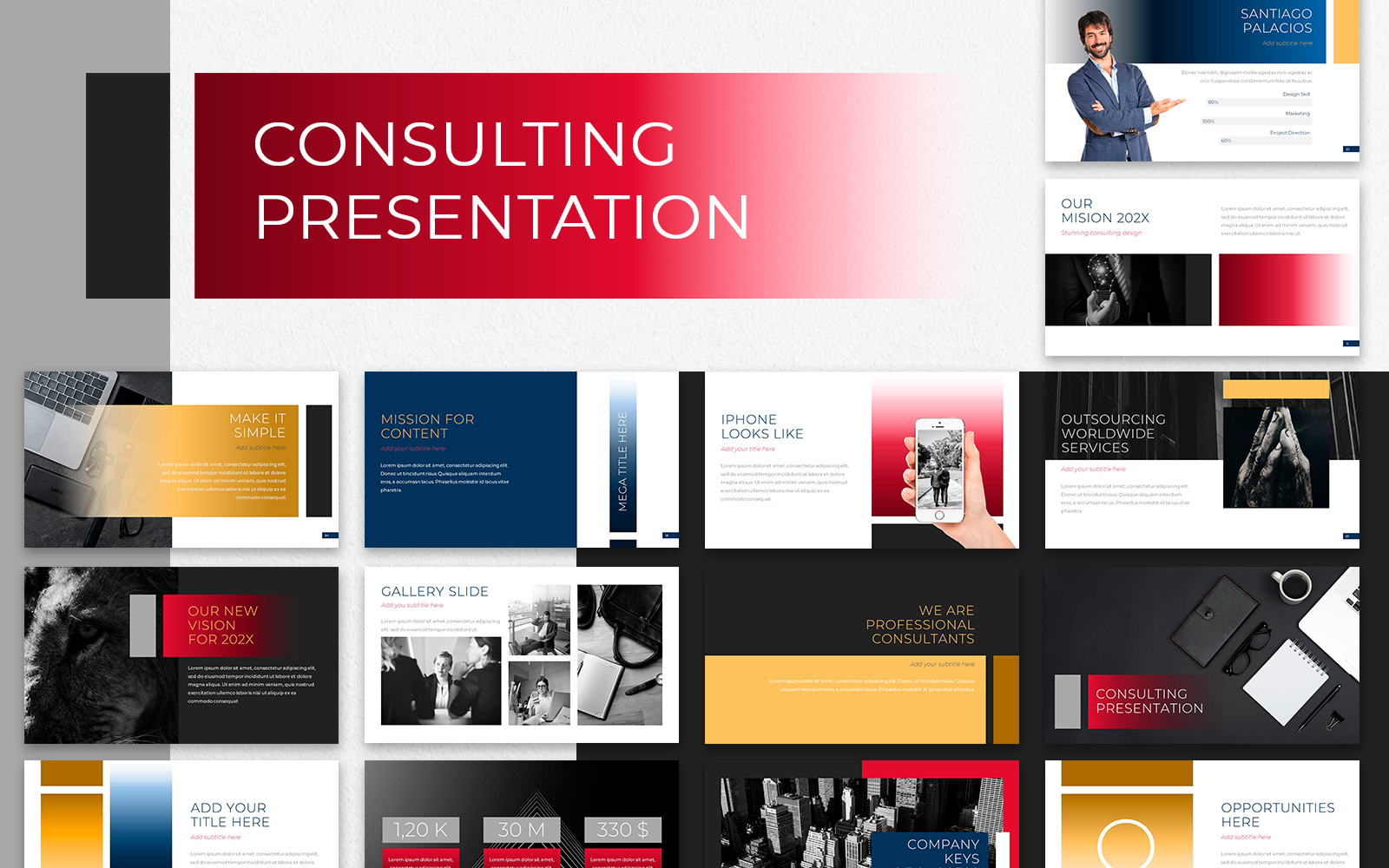 Consulting Presentation PowerPoint Template