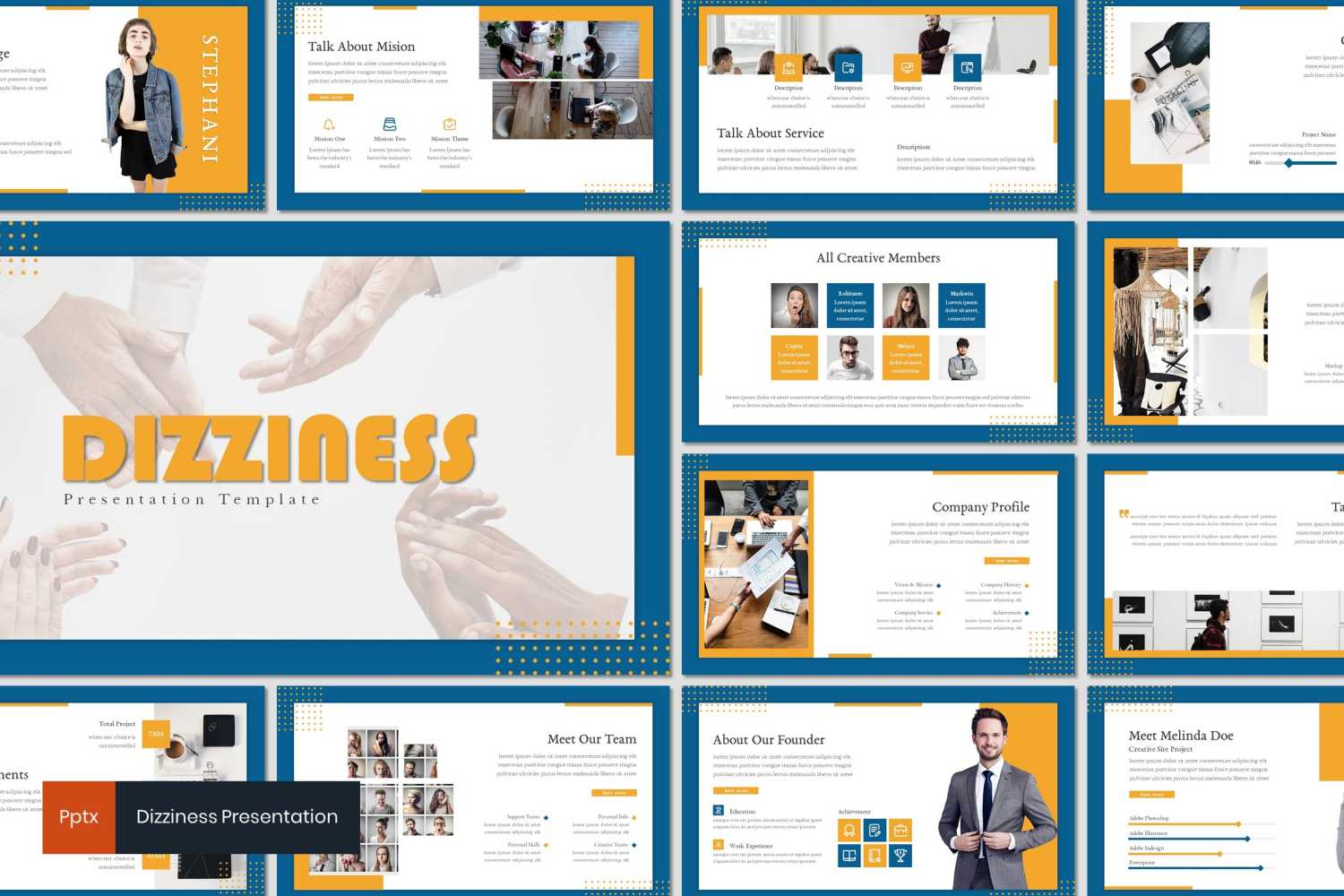 Dizziness PowerPoint Template