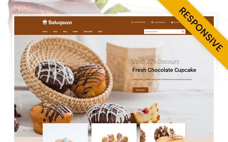 Bakequeen - Bakery Store WooCommerce Theme