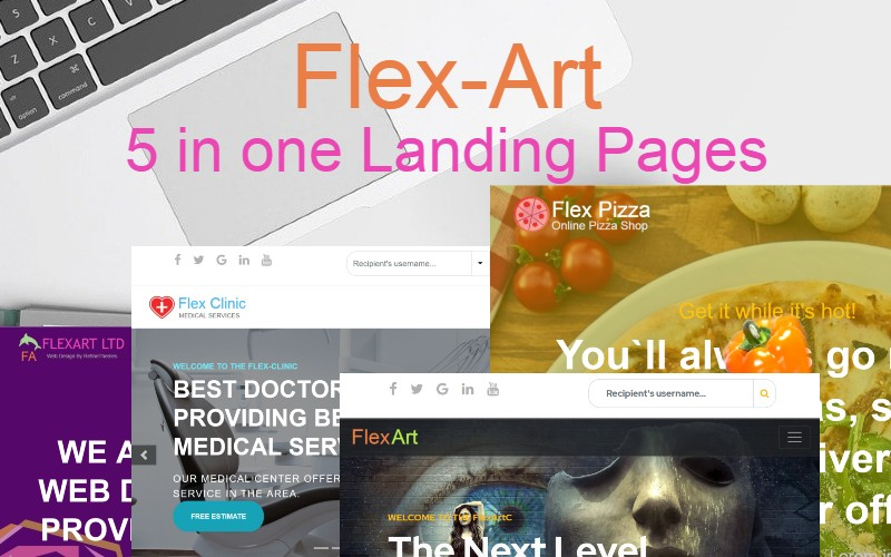 FlexArt - Five in One Landing Page Template