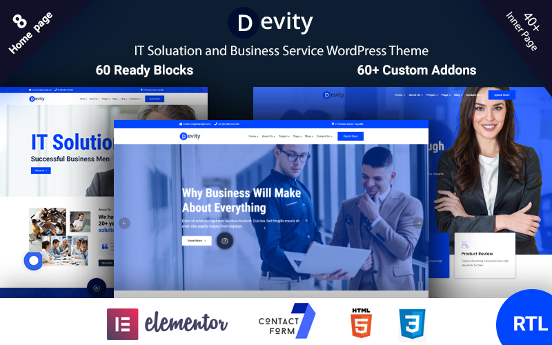 Devity - IT Solutions Business Service WordPress Theme