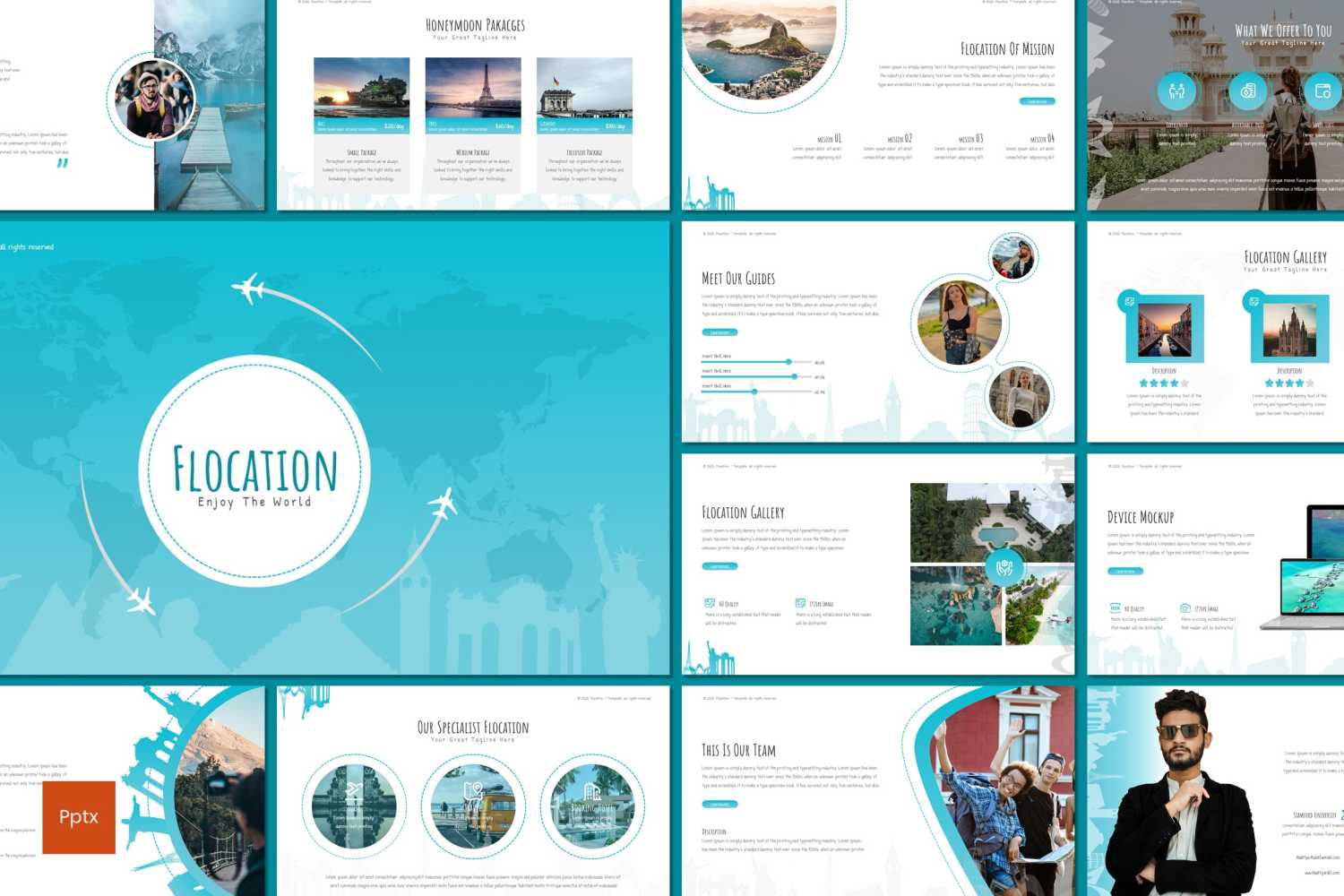 Flocation PowerPoint Template