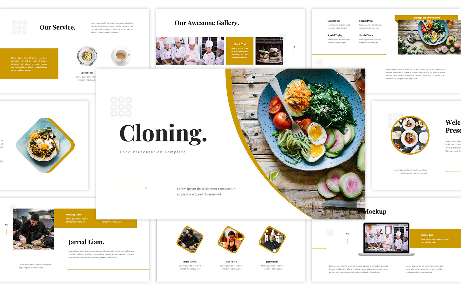 Cloning - Food PowerPoint Template