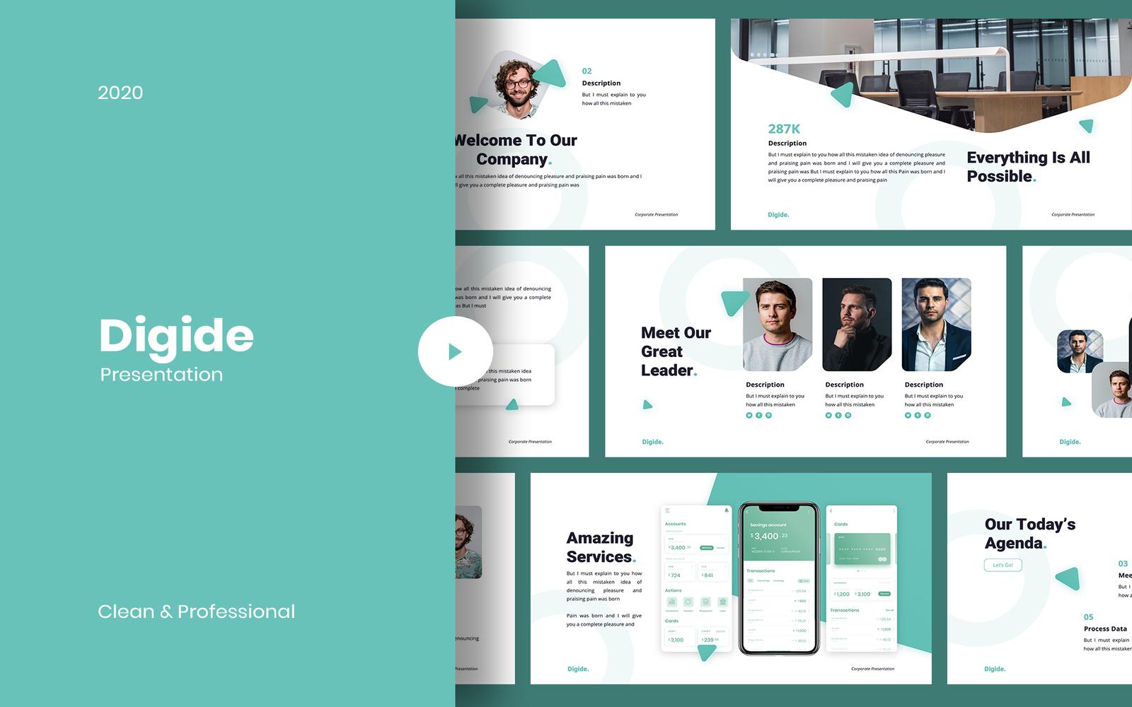 Digide - Startups PowerPoint Template