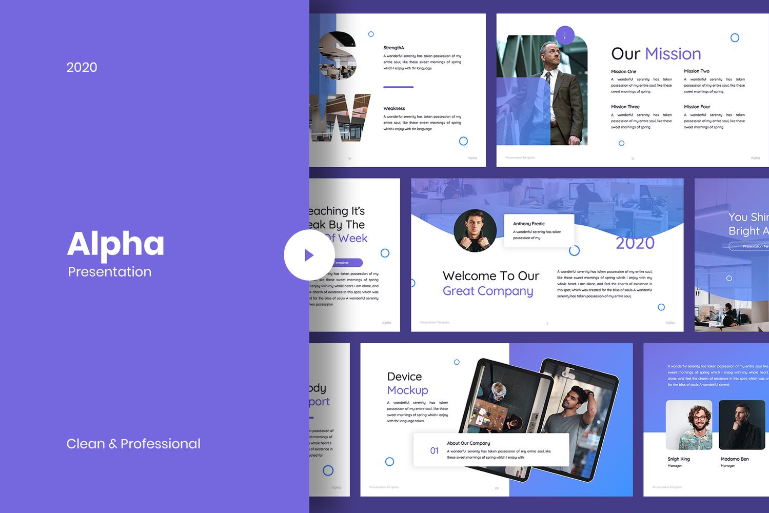 Alpha - Business PowerPoint Template