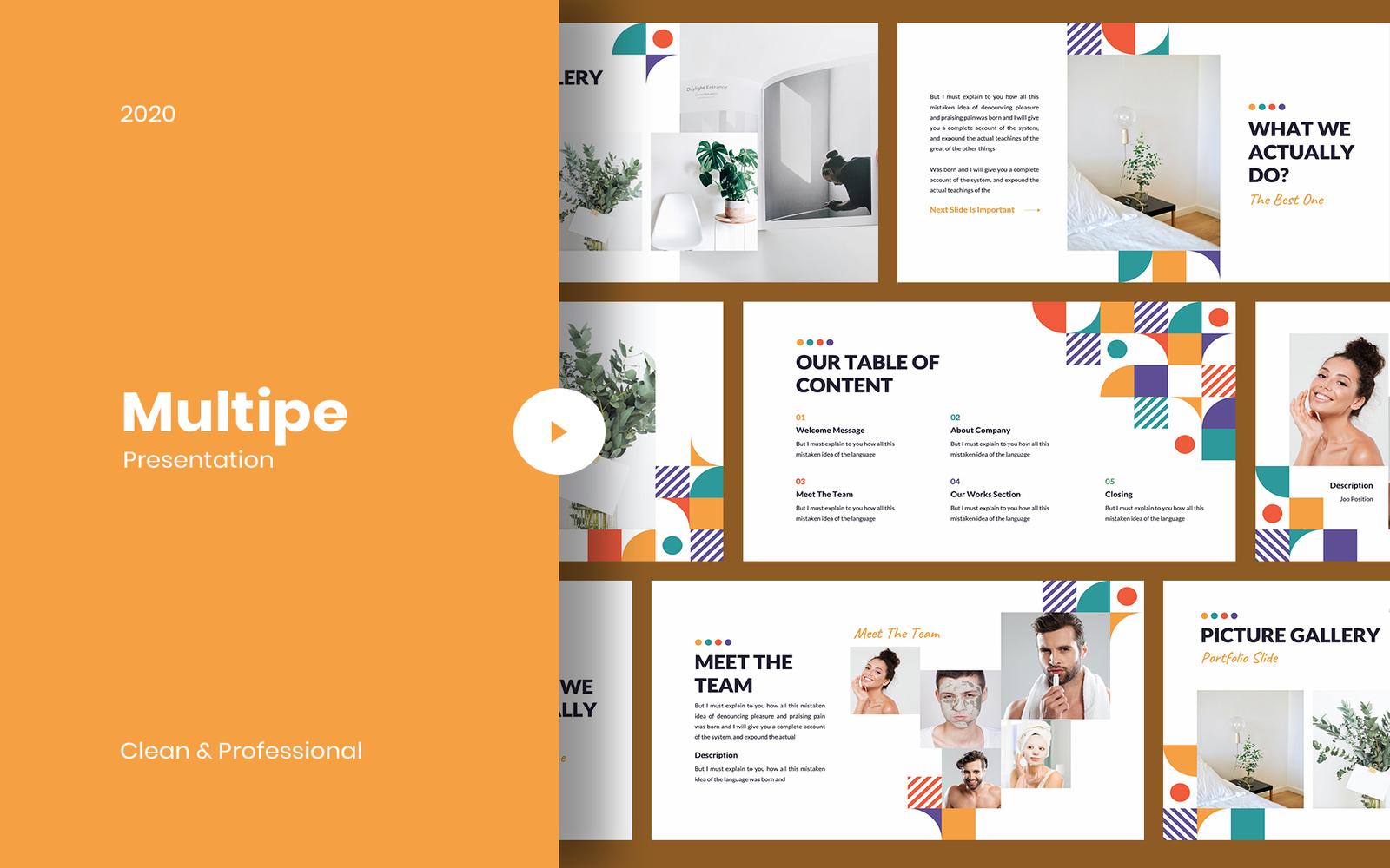 Multipe - Geometric PowerPoint Template