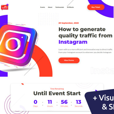 Template Divertisment Landing Page #119287