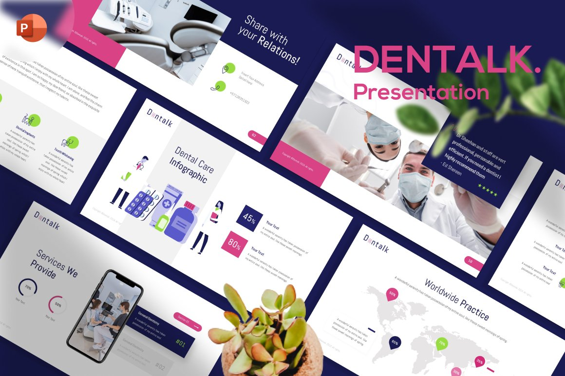 Dentalk Dentist Presentation PowerPoint Template