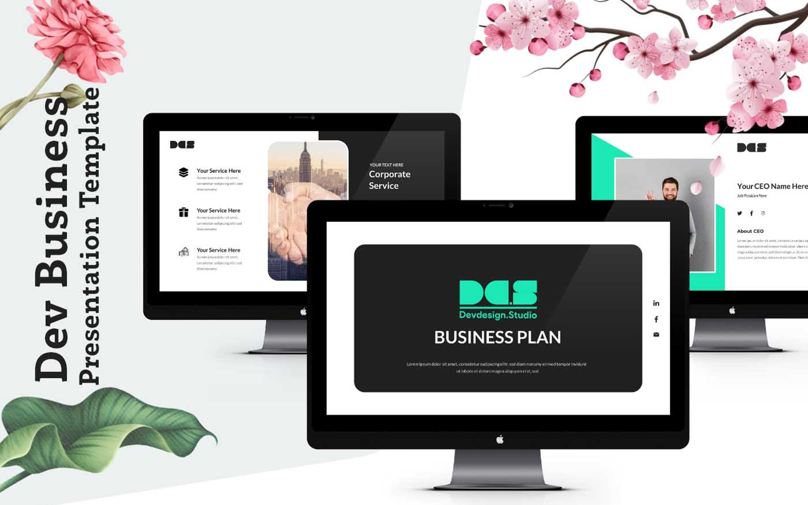 Dev Business Presentation Pitch Deck PowerPoint Template