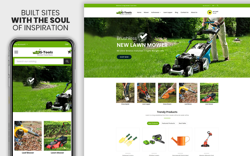 Gtools - The Plant & Tools Accessories Premium Shopify Theme