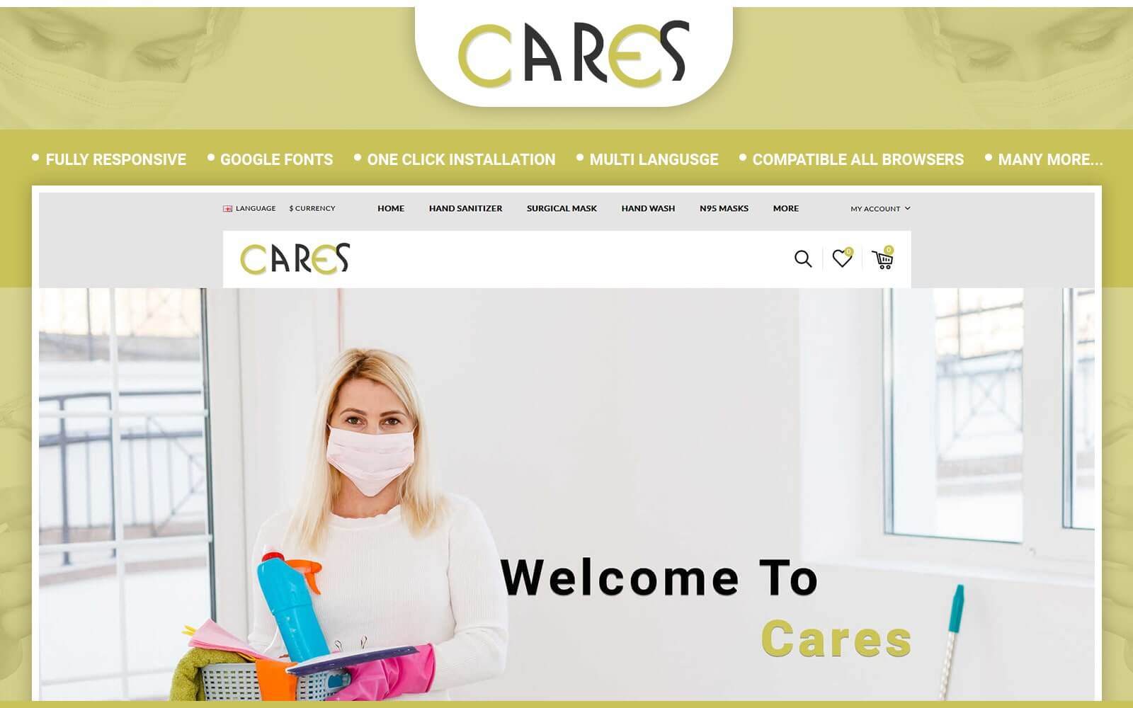 Cares - Sanitizer Store OpenCart Template