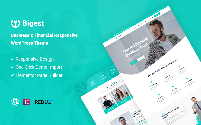 Bigest - Financial Responsive WordPress Theme