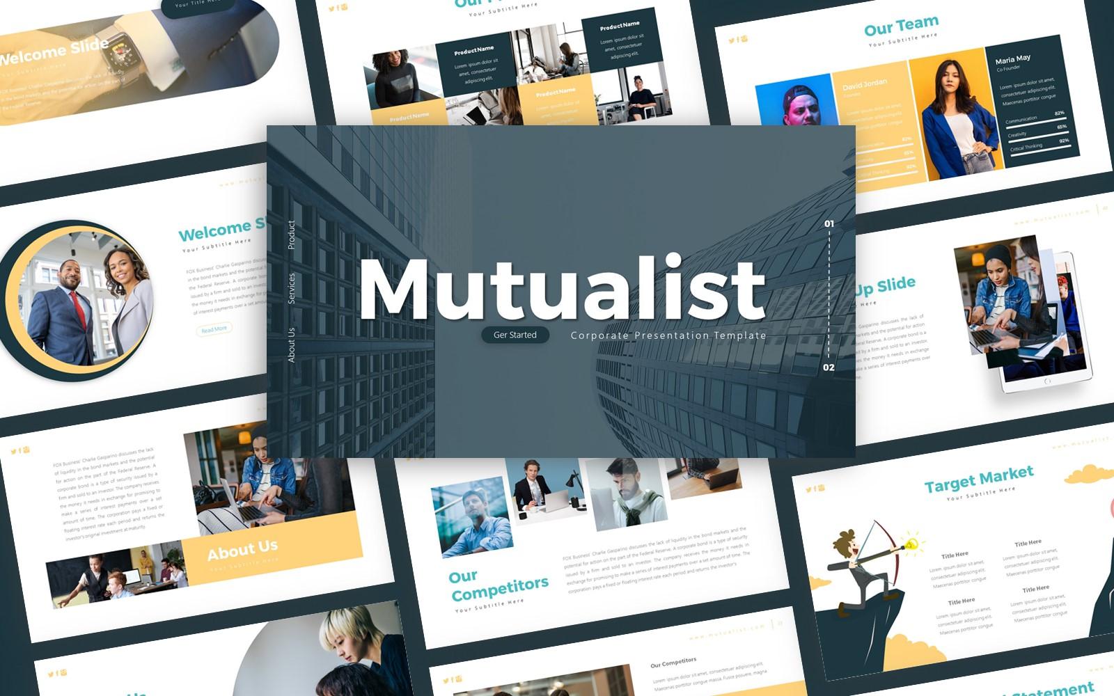 Mutualist Corporate Presentation PowerPoint Template