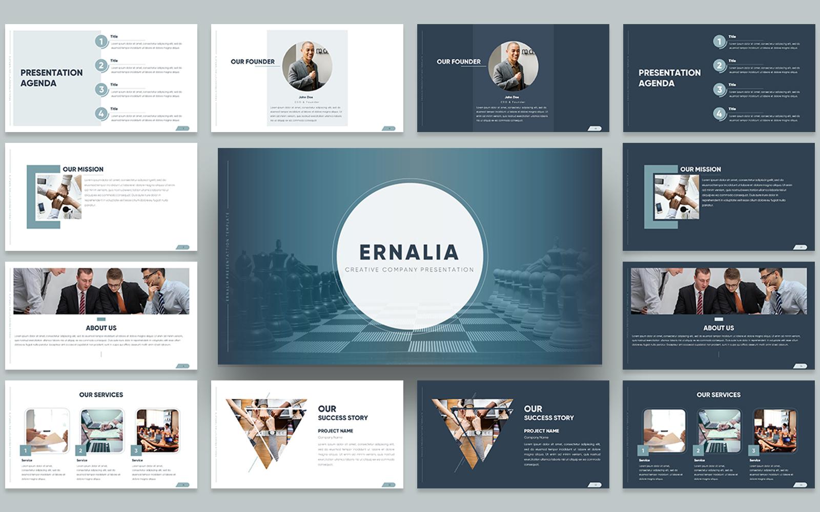 Ernalia Creative Company Presentation PowerPoint Template