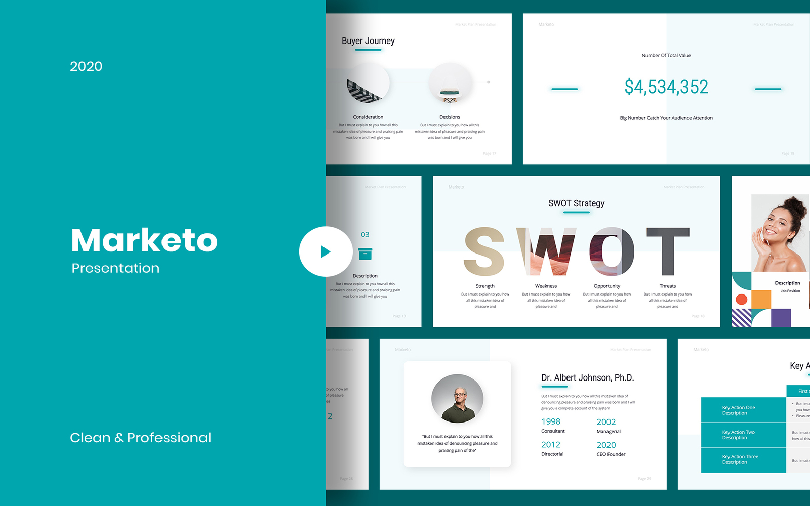 Marketo - Marketing PowerPoint Template