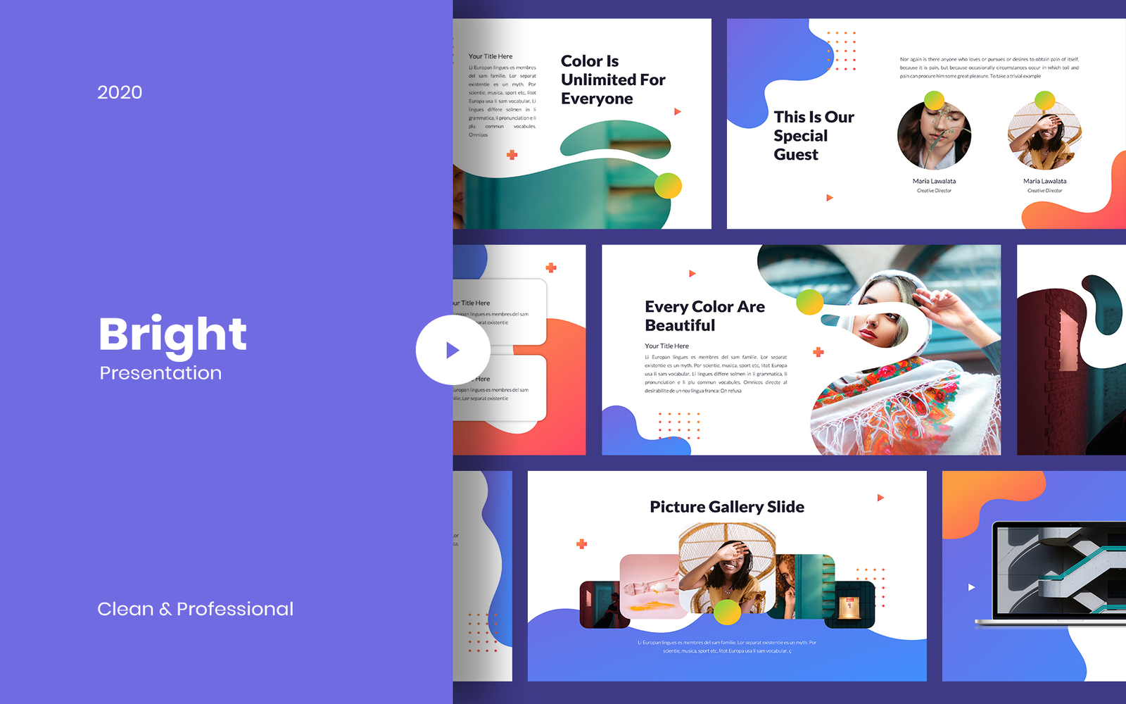 Bright - Creative PowerPoint Template