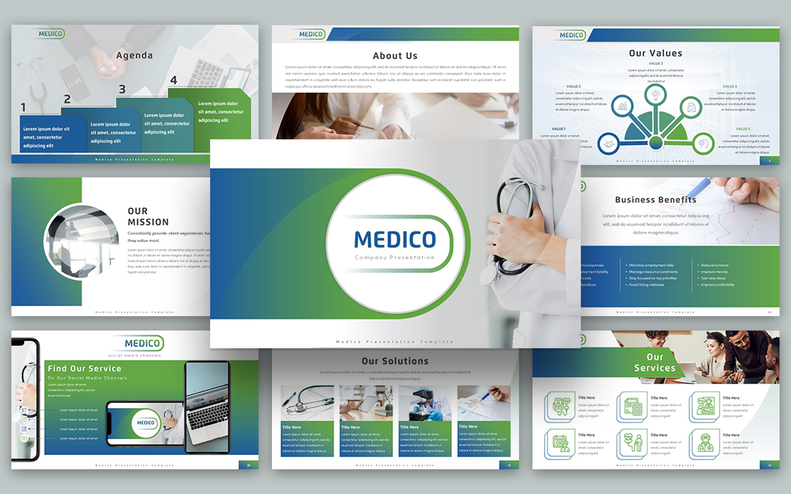 Medico Presentation PowerPoint Template