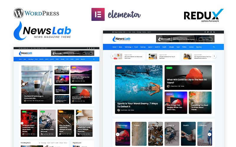 NewsLab - News Magazine WordPress Theme