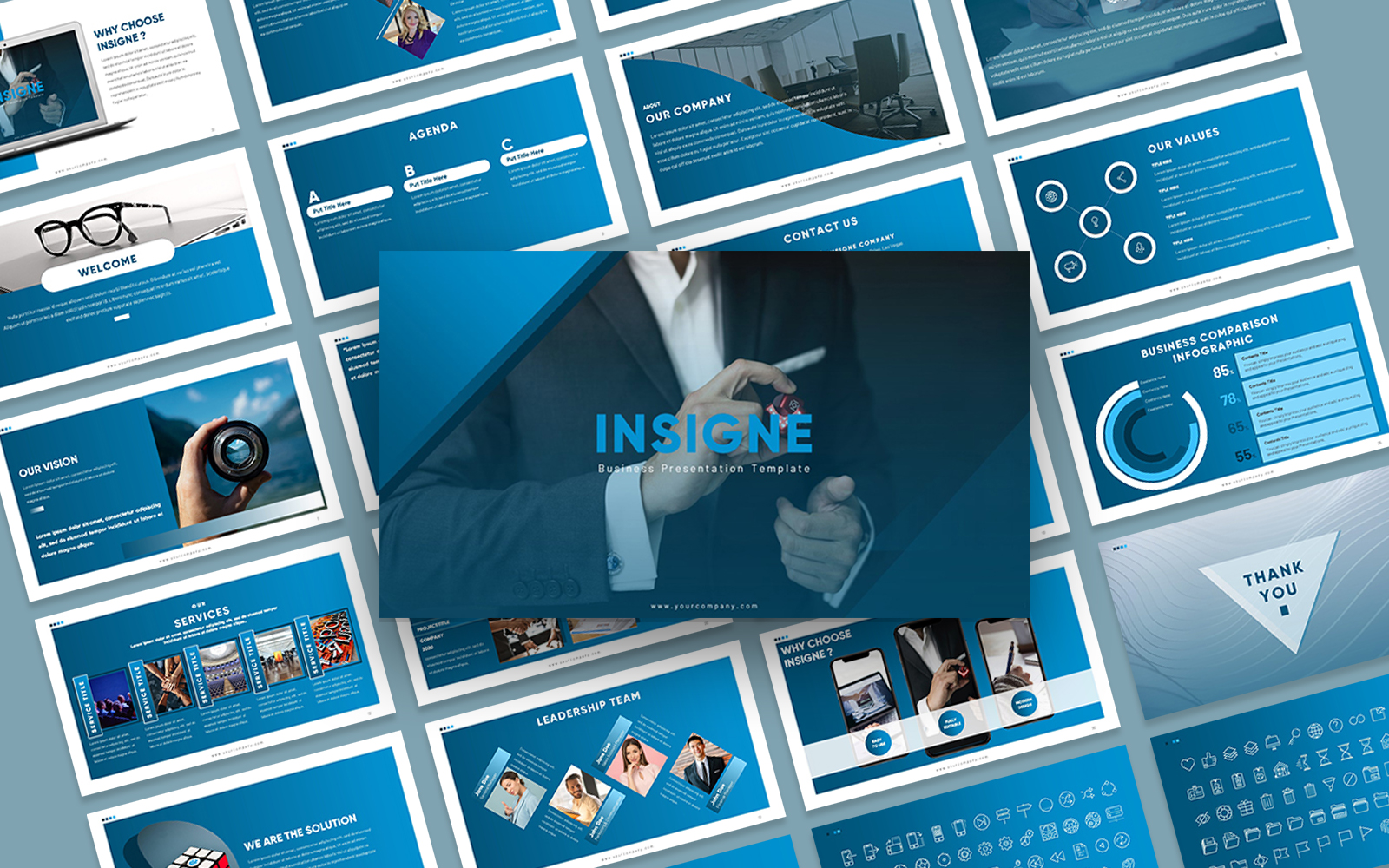 Insigne Company Presentation PowerPoint Template