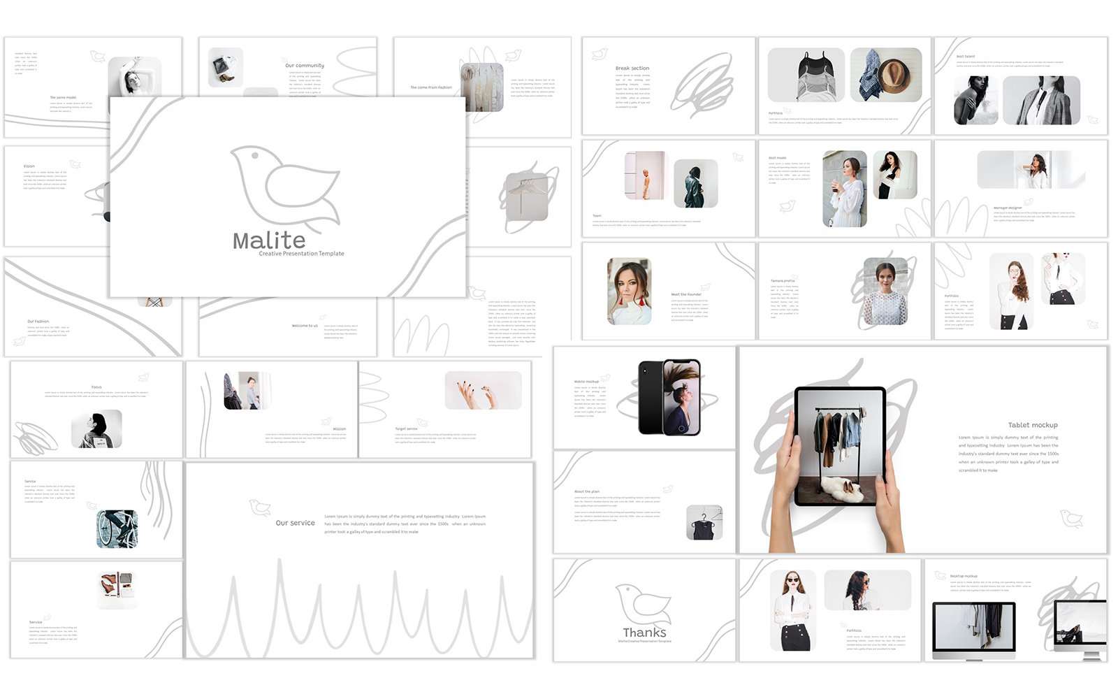 Malite PowerPoint Template