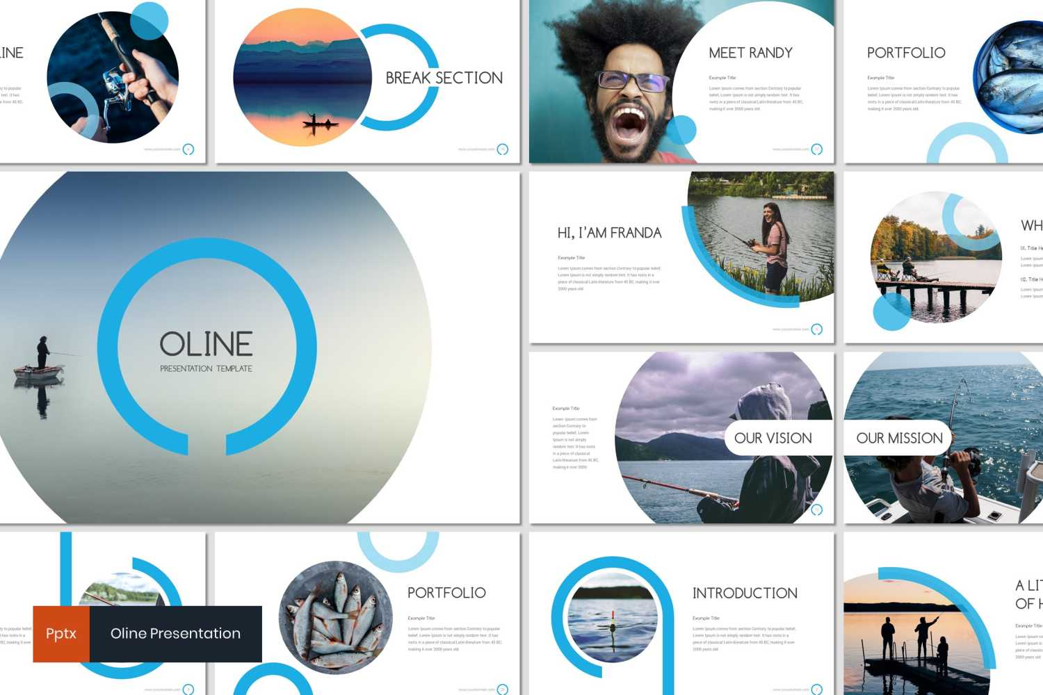 Oline PowerPoint Template