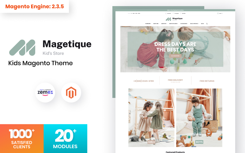 Magetique Kids Store Magento Theme