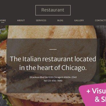 Template Cafenele și restaurante Moto CMS 3 #120710