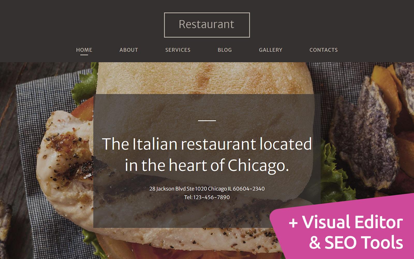 Italian Restaurant Moto CMS 3 Template