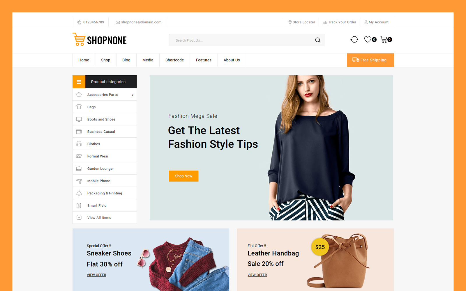 Shopnone - Multipurpose WooCommerce Theme