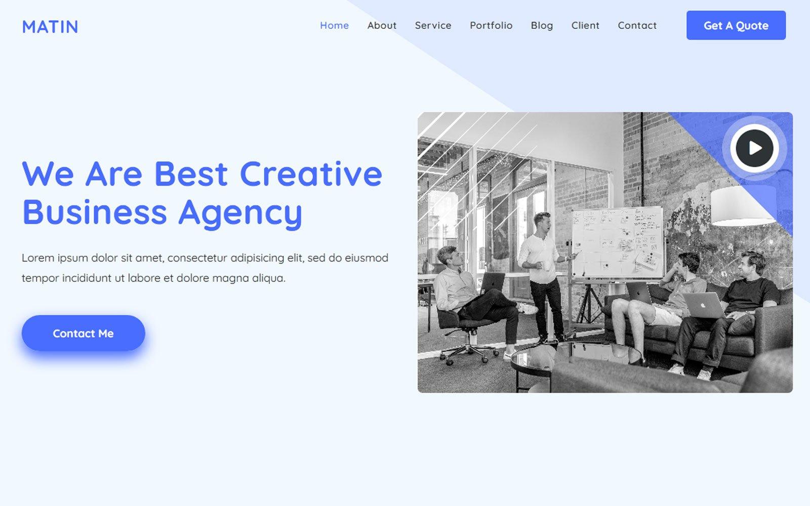 Al-Matin - Digital Agency Html Landing Page Template