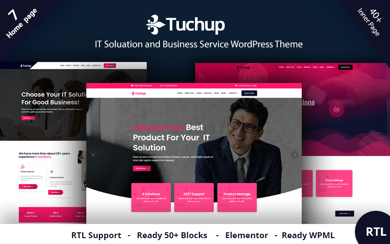 Tuchup - It Solution Service and Business WordPress Theme