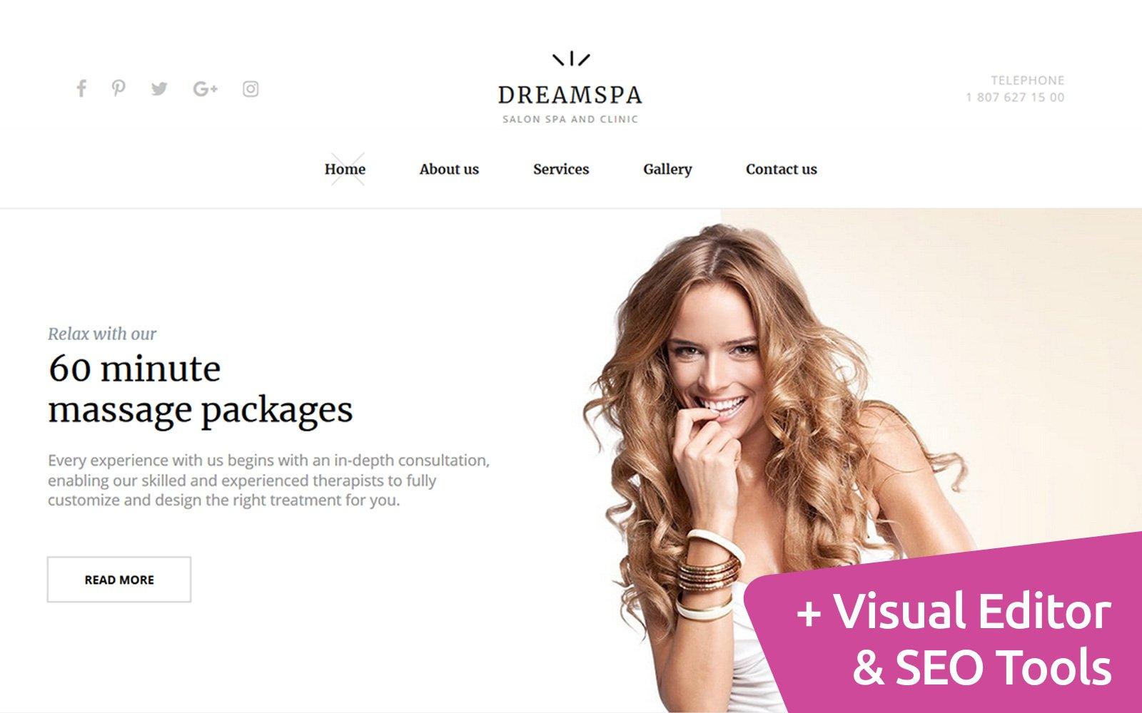 DreamSpa - Spa Health & Skincare Moto CMS 3 Template