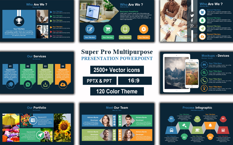 Super Pro Multipurpose Presentation PowerPoint Template