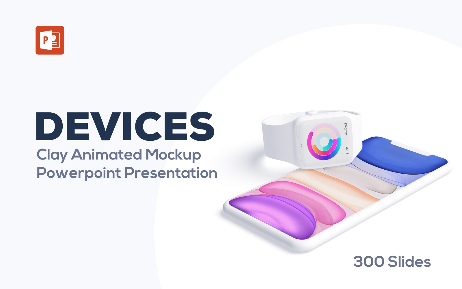 Animated Devices Mockups PowerPoint Template