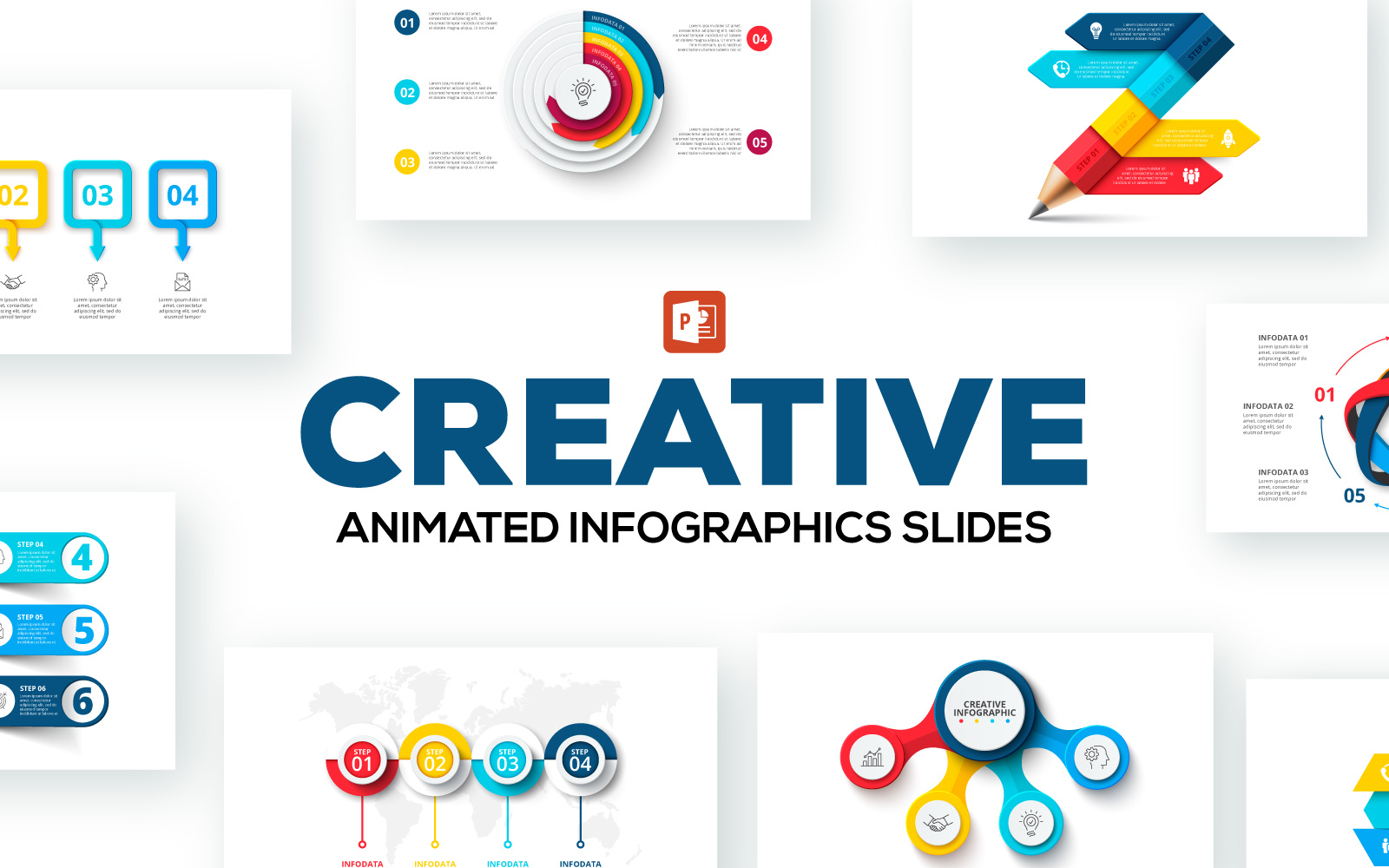 Creative Animated Infographic Presentations PowerPoint Template