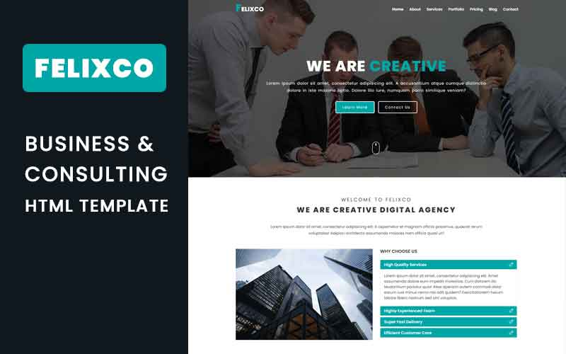 Felixco - Business & Consulting Landing Page Template
