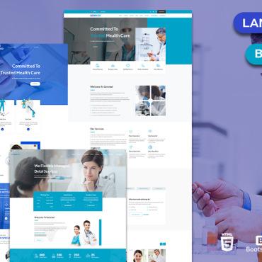 Template Medicină Landing Page #121938