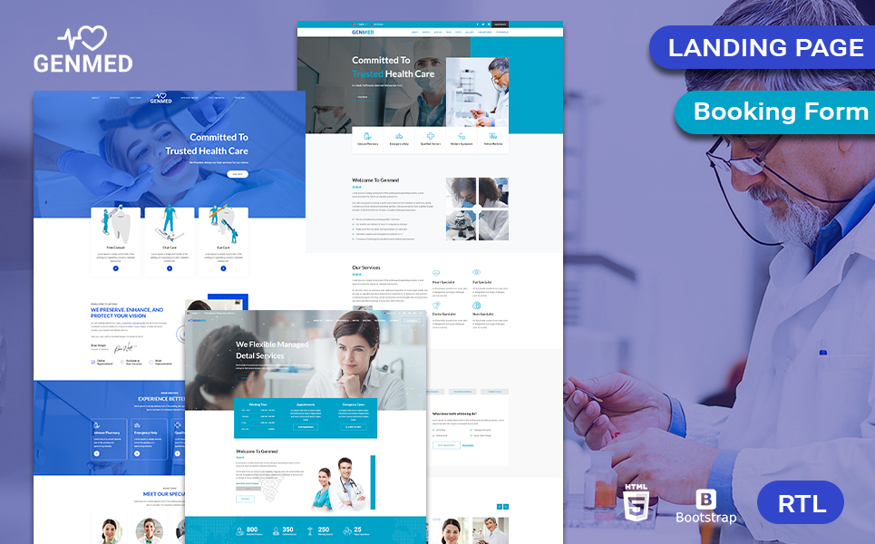 Genmed | Multipurpose Medical Landing Page Template