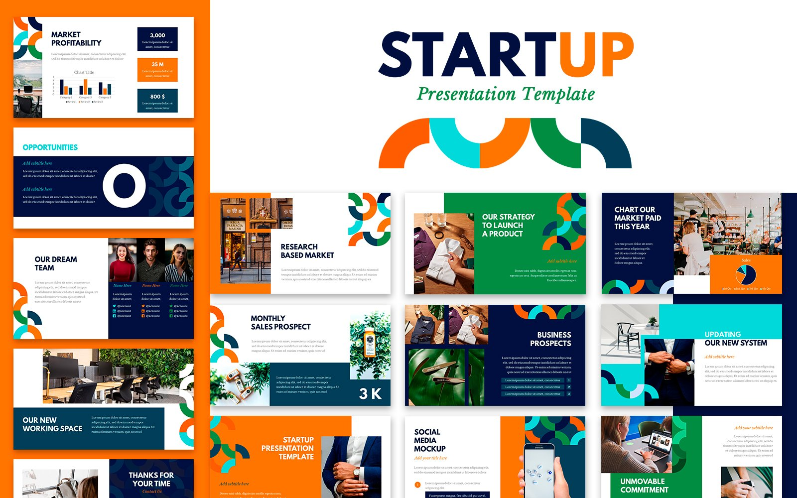 Startup Presentation PowerPoint Template