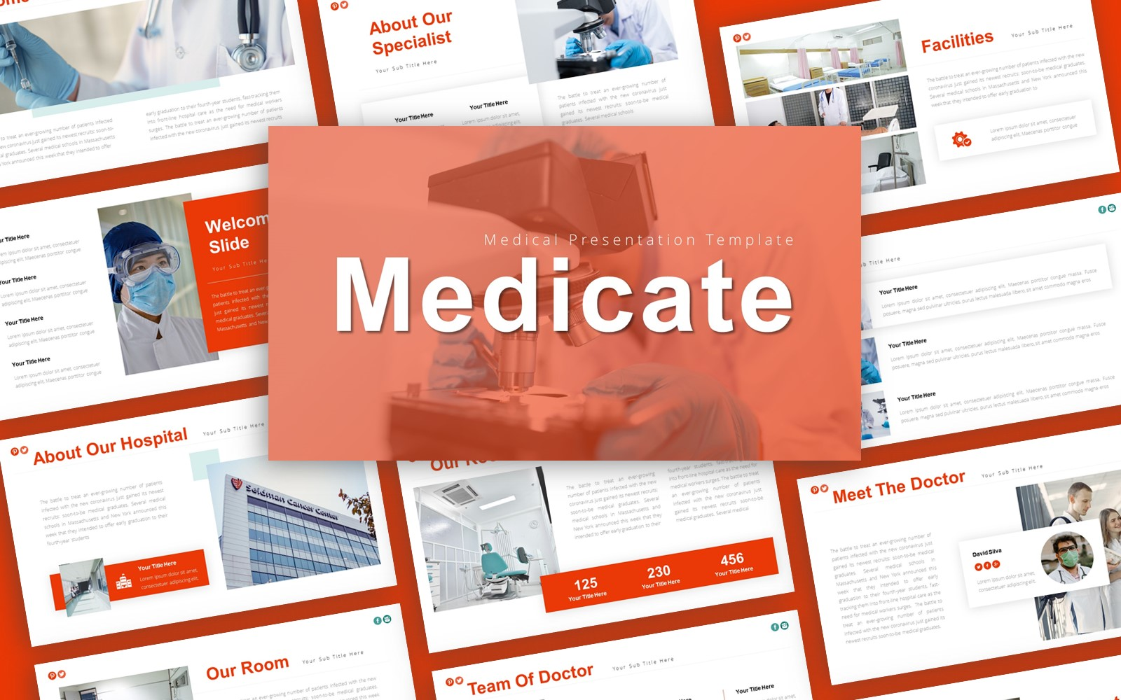 Medicate Medical Presentation PowerPoint Template