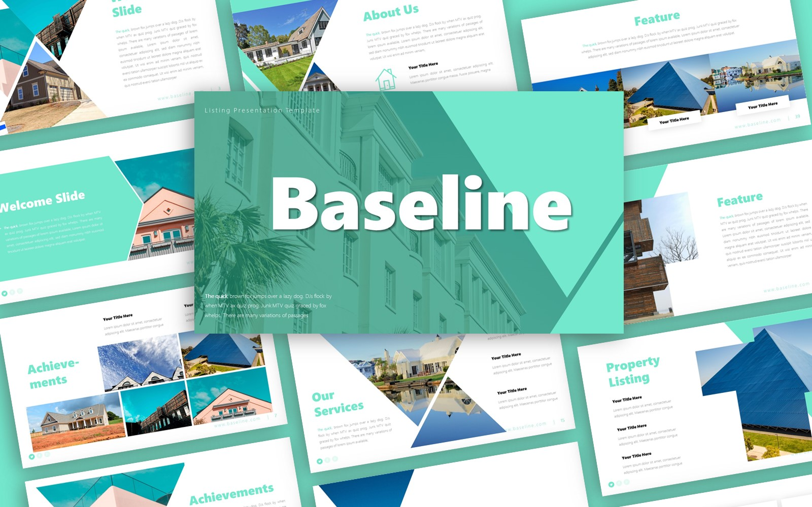 Baseline Listing Presentation PowerPoint Template