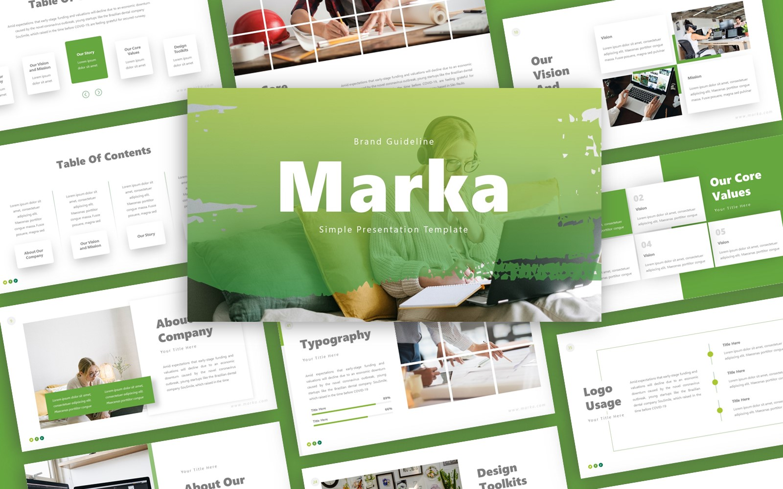 Marka Brand Guideline Presentation PowerPoint Template